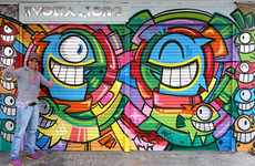 Funky Fish Street Art - Street Artist PEZ is Behind These Vibrantly Colored Fish Murals