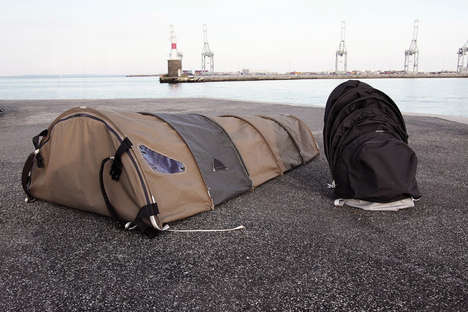 Transportable Homeless Shelters - The Urban Rough Sleeper Backpack Helps Support the Homeless