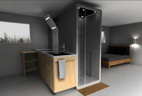 Bathroom-Integrated Kitchens