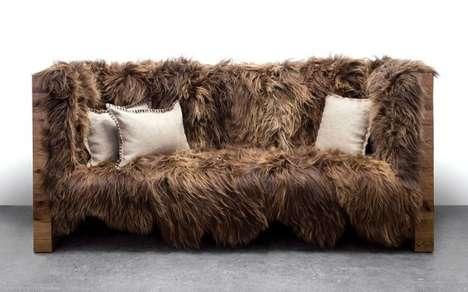 Rustic Sheepskin Sofas