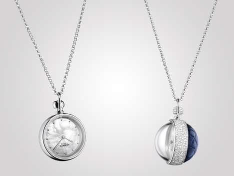 Diamond-Studded Watch Necklaces