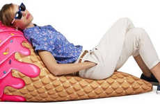 Cute Cone-Shaped Chairs - These Unusual Bean Bag Chairs are Inspired by Ice Cream Treats