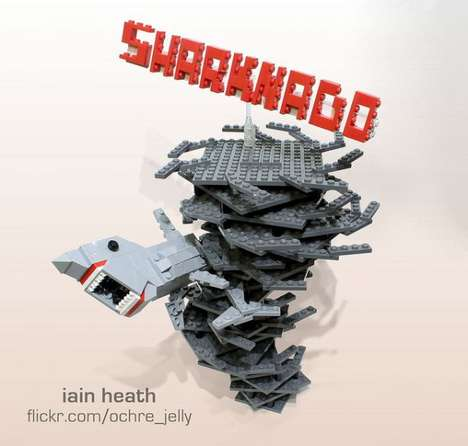 Shark Tornado Toy Sculptures
