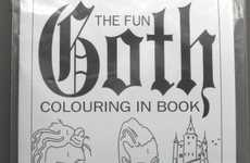 Dark Drawing Pad Pamphlets - The Observer Music Monthly Promotes Using Goth Coloring Books