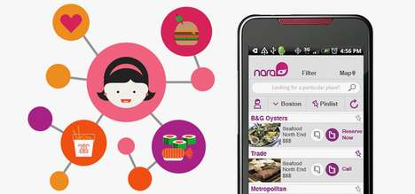 Taste-Analyzing Foodie Apps - The Nara App Analyzes Your Tastes to Find Restaurants for You to Try