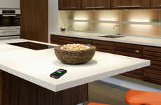 Wirelessly Charging Countertops - The DuPont Corian Solid Surfaces Double as a Device Charger
