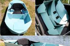 Conveniently Compact Canoes - The Stakanoo by Stuart Woodward Allows for Maximum Portability