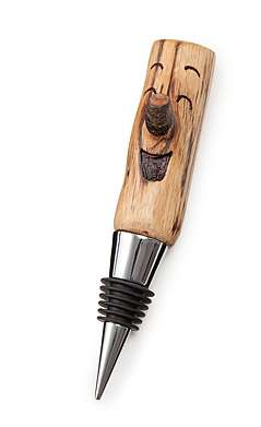 Twig-Carved Wine Accessories - These Wood Bottle Stoppers are Cute and Functional