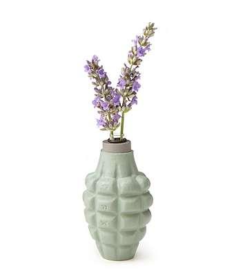 Military-Inspired Flower Vases