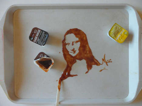 These Iconic Portraits are Made with Edible Materials Like Gum and Milk