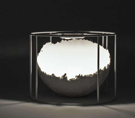 Delicate Eggshell-Like Lights