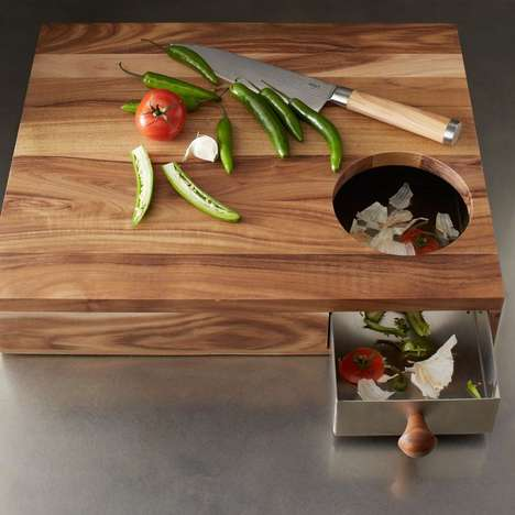 Refuse-Catching Cutting Boards