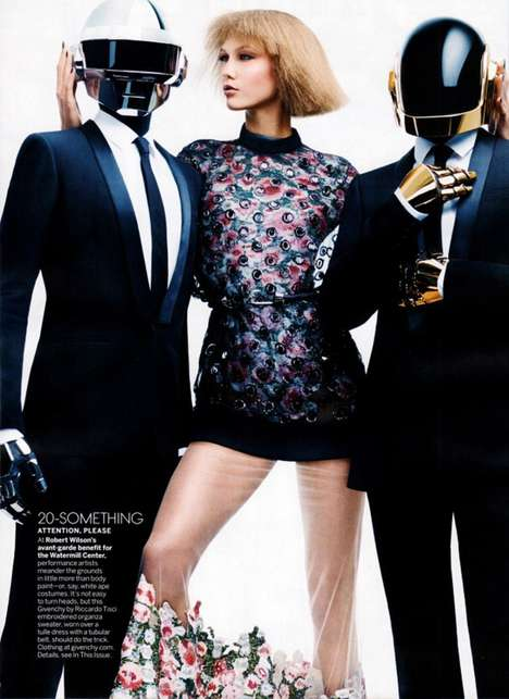 The Vogue August 2013 Editorial Pairs Karlie Kloss and Daft Punk