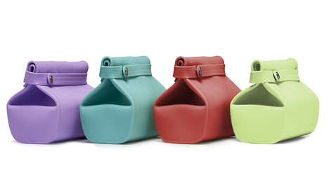 Sealable Silicone Lunch Bags - Unikia's Lightweight Lunch Bags Resemble Brown Paper Carriers