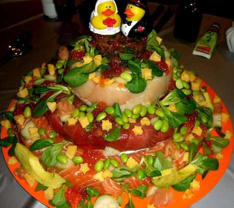 Sushi-Themed Wedding Cakes