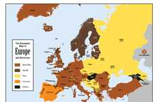 Beer-Translating Language Maps - The European Language Map Shows How to Say Beer in Several Dialects