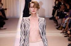 Nearly Nude-Colored Couture - The Armani Prive Fall Collection Took Viewers Back to The Basics