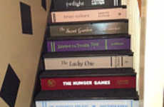 Stick-On Home Decor - Transform Your Staircase Into a Library with Interior Design Wall Stickers