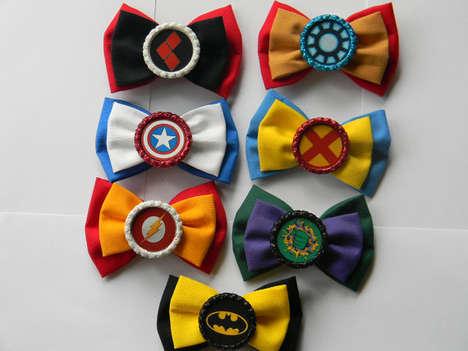 Cartoon Superhero Bows