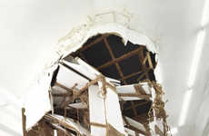 Destructive Art Exhibits - This Art Exhibit Turns a Caved in Ceiling into a Work of Art
