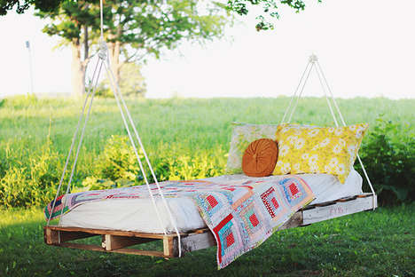 DIY Outdoor Swing Beds - This Comfortable DIY Lounger is Perfect for Relaxing Outdoors