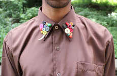 DIY Button-Accented Collars