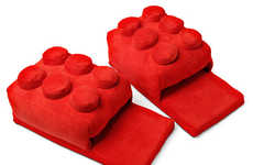 LEGO-Like Slippers - Never Fear Bricks Again with This Pair of Building Block Slippers