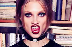 Vampiric Goth Lookbooks - The For Love & Lemons Fall Catalog Stars a Dark Anna Selezneva