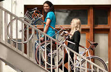 Custom Attachable Bike Carriers - Carry Your Bike Easily with Adjustable Leather Handles