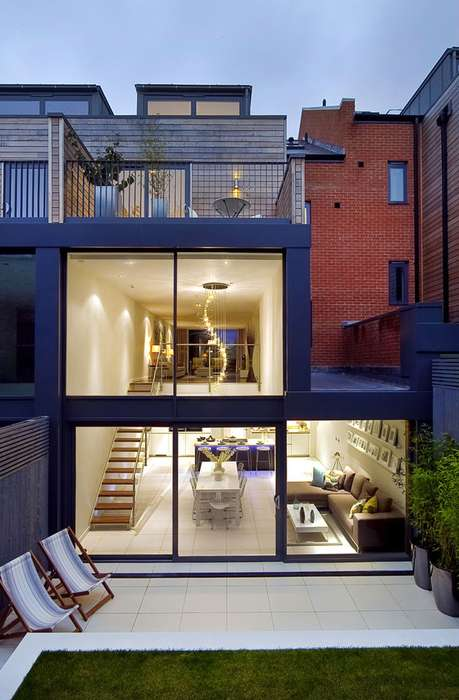 Chic Box-Shaped Architecture - LLI Design Offers a Modern House in London