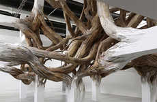 Organic Column Installations - The Baitogogo by Henrique Oliveira is Like a Bursting Forest