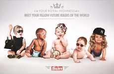 Photoshopped Celebrity Baby Ads - This Ad for the Sun UK Spoofs Grown-Up Celebrity Babies