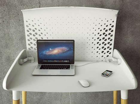 Tech-Hiding Work Tables