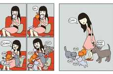 Comical Cat Comic Books - 'Cat vs. Human: Another Dose of Catnip' Explores Feline Relationships