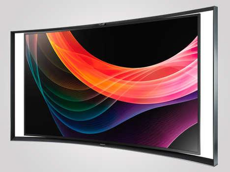 Sleekly Curved LED TVs