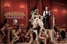 Risque Royalty-Inspired Advertising - This Project Runway Ad Stripped Down Its Models