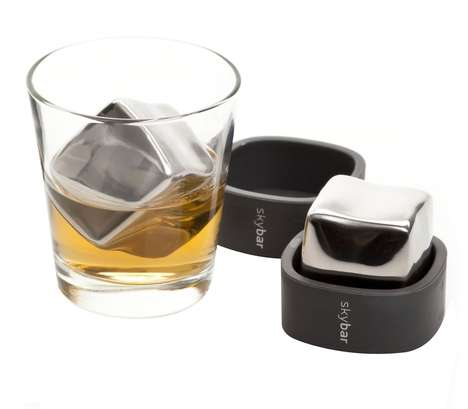 Oversized Metallic Drink Coolers - Skybar Chill Cubes Make a Snifter the Perfect Temperature