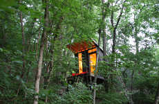 Contemporary Treetop Abodes - The ModFruGAL Treehouse Offers a Cozy Tranquil Escape