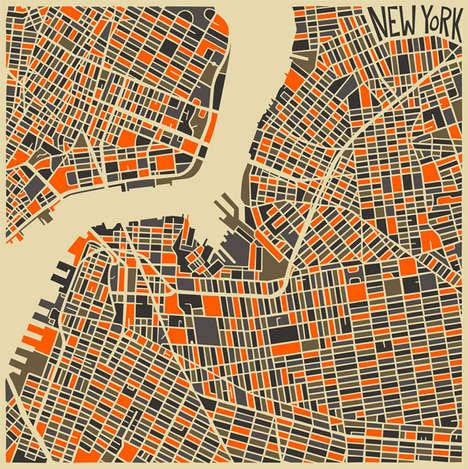 Vibrant Conceptual City Maps