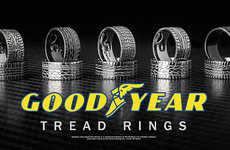 Tire Tread Accessories - Tread Rings Come in a Variety of Styles to Match Your Choice Brand or Car