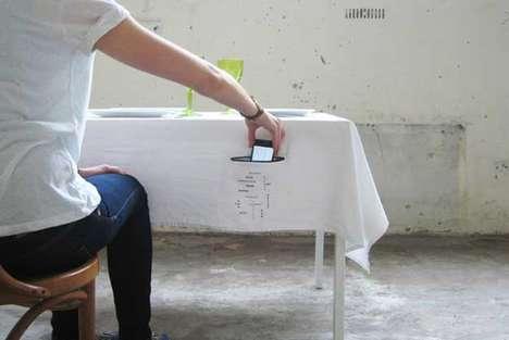 Phone-Hiding Dining Decor