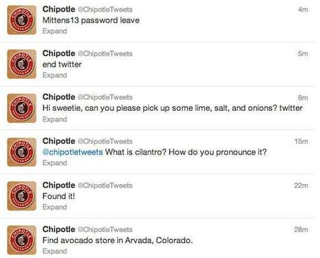 Hacked Social Media Hoaxes - This Campaign Made the Chipotle Twitter Page Seem Like It Was Hacked