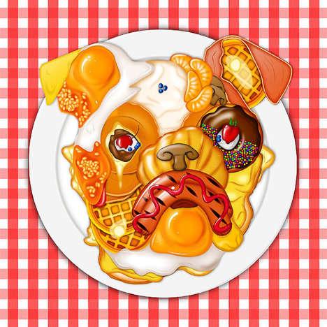 Bizarre Food Mashup Portraits
