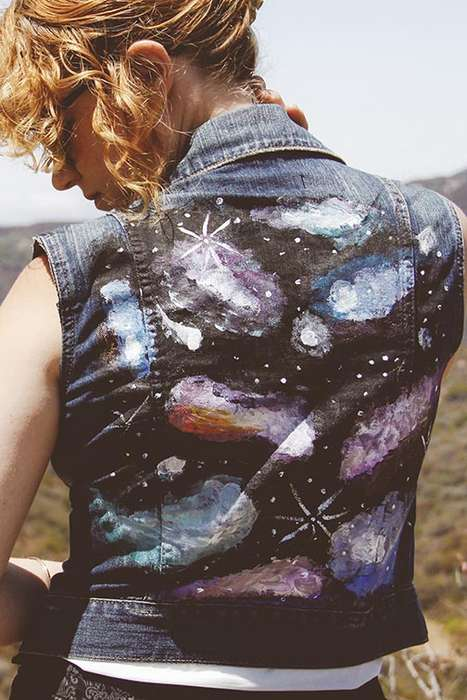 Sci-Fi Denim Jacket Accents