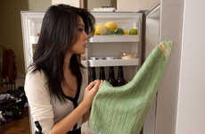 Magnetic Kitchen Serviettes - The 'Stick 'em Magnet Kitchen Towel' can Attach to any Metal Object
