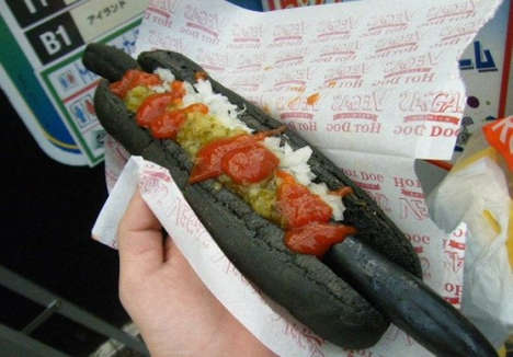 Bizarrely Blackened Hot Dogs