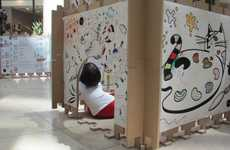 Children-Interacting Art Installations - The Color Me Exhibition Targets Kids' Boundless Creativity
