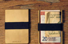 Open-Face Card Carriers - The Machine Era Wallet Streamlines the Classic Design of a Billfold