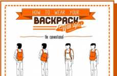 Comedic Backpack Style Infographics
