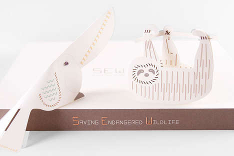 Animal-Saving Sewing Kits - Mirim Seo's Saving Endangered Wildlife Sewing Kit is Educational